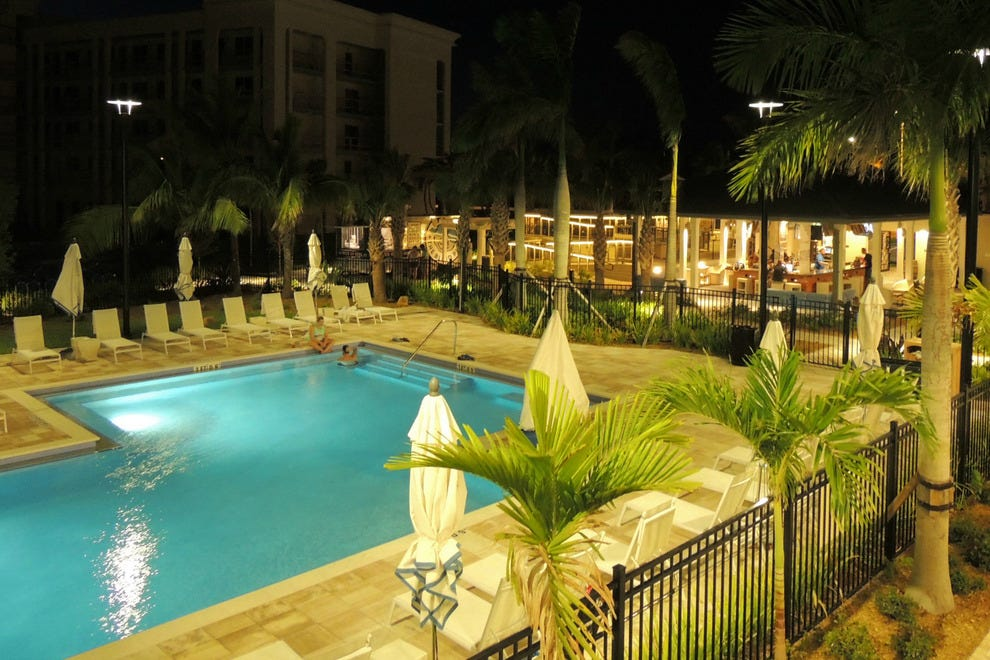 The tranquil pool and Rum Row bar are the perfect combo for relaxation