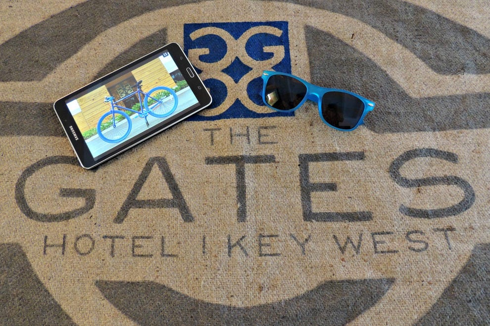 Catering to a techno-savvy clientele, The Gates provides Samsung tablets for in-room use