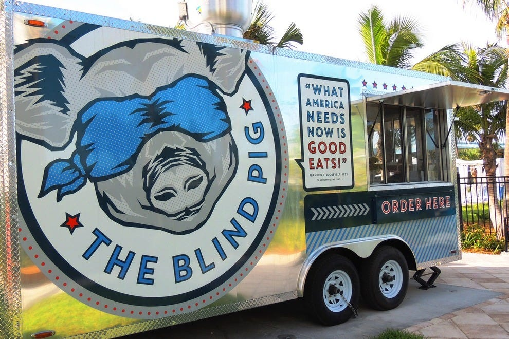 The Blind Pig, a permanent food truck, offers Conch fusion tapas and snacks all day long