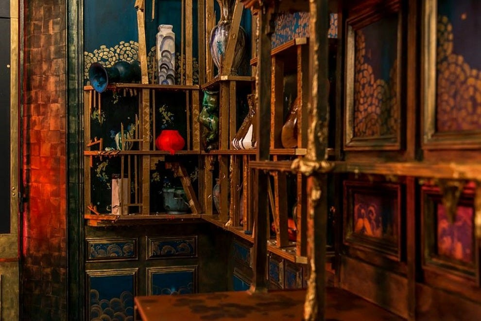 "A view of the ""Peacock Room REMIX: Darren Waterston's Filthy Lucre"""