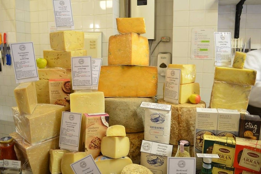 I.J. Mellis' fine selection of cheese