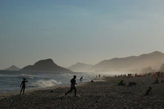 Surfing, Swimming and Sunbathing at Rio's Recreio Beach