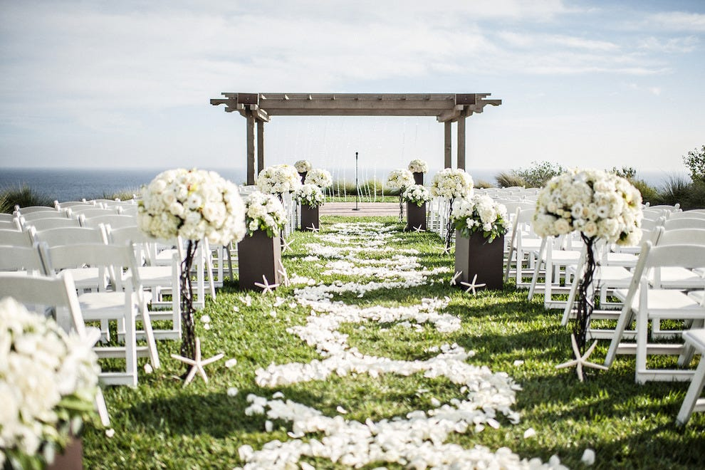 10 southern california destination wedding resorts for tying the the quintessential socal ceremony spot catalina point is set on a bluff overlooking the pacific at terranea resort photo courtesy of kristen manick junglespirit Images