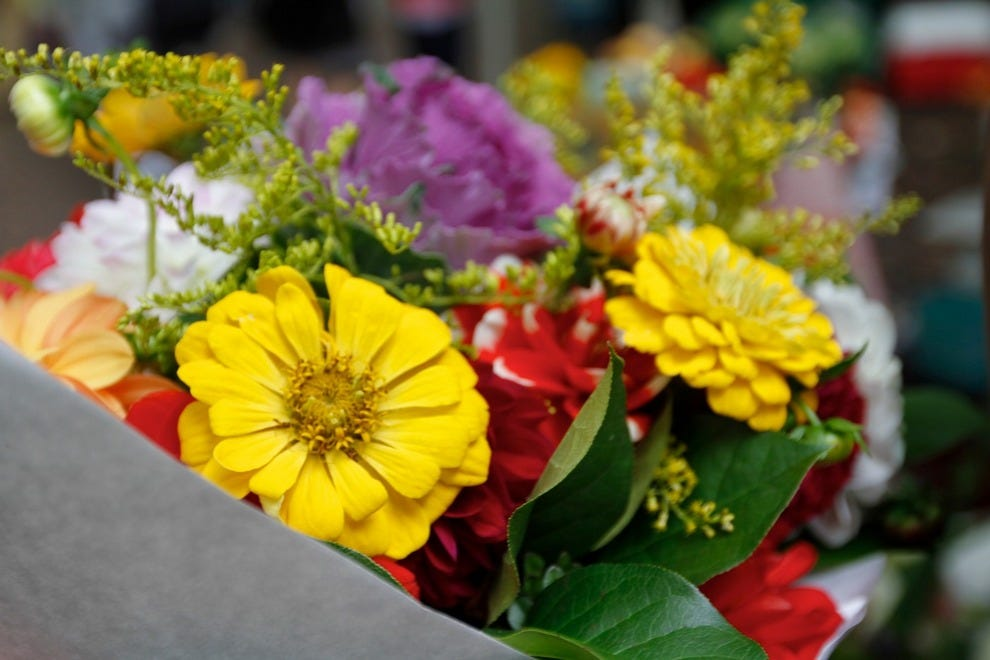 Who doesn't love a fresh bouquet of local flowers to brighten up the table?