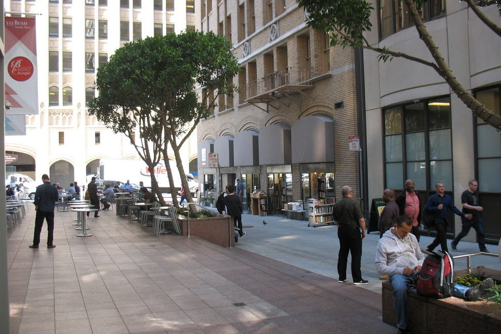 Trinity Plaza, where G.F. Wilkinson is located, is an easy walk from New Montgomery BART