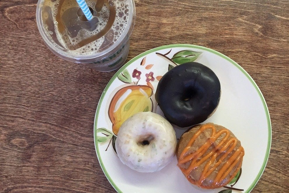 Pair your Diggity Doughnuts with freshly made slow-drip coffee, juice or lemonade