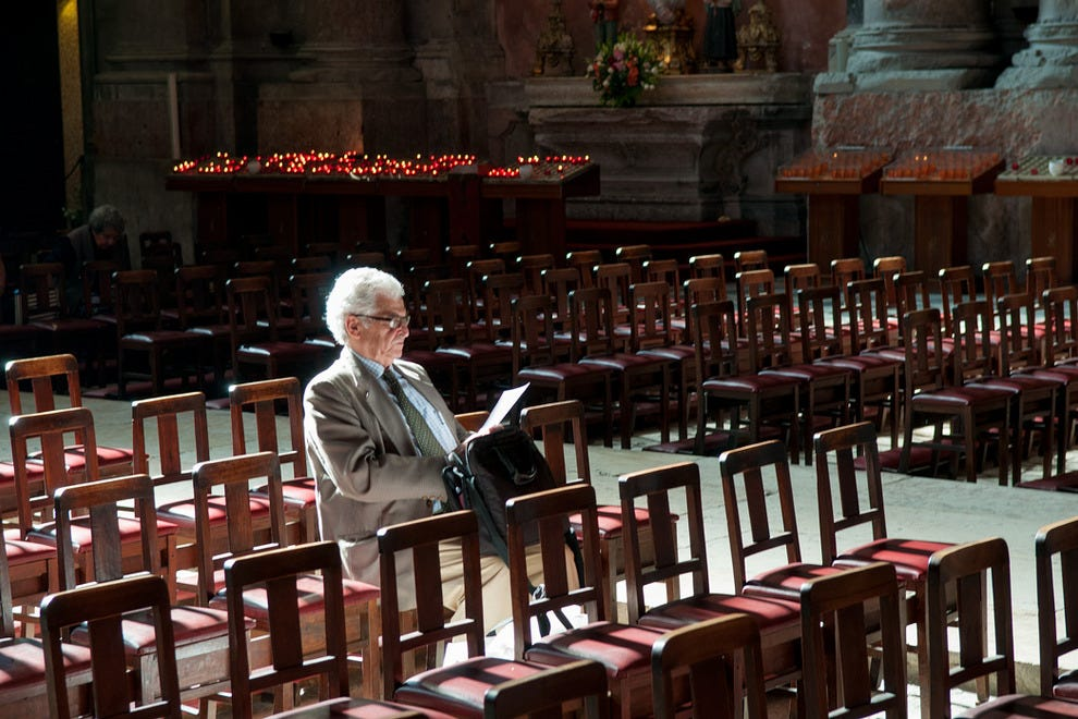 Members of the public often use the church to relax in and take advantage of the peace and quiet