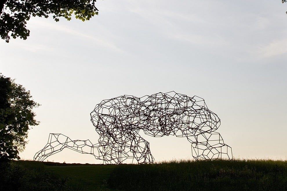 """Firmament"" by Andy Gormley, one of the fascinating sculptures at Jupiter Artland"