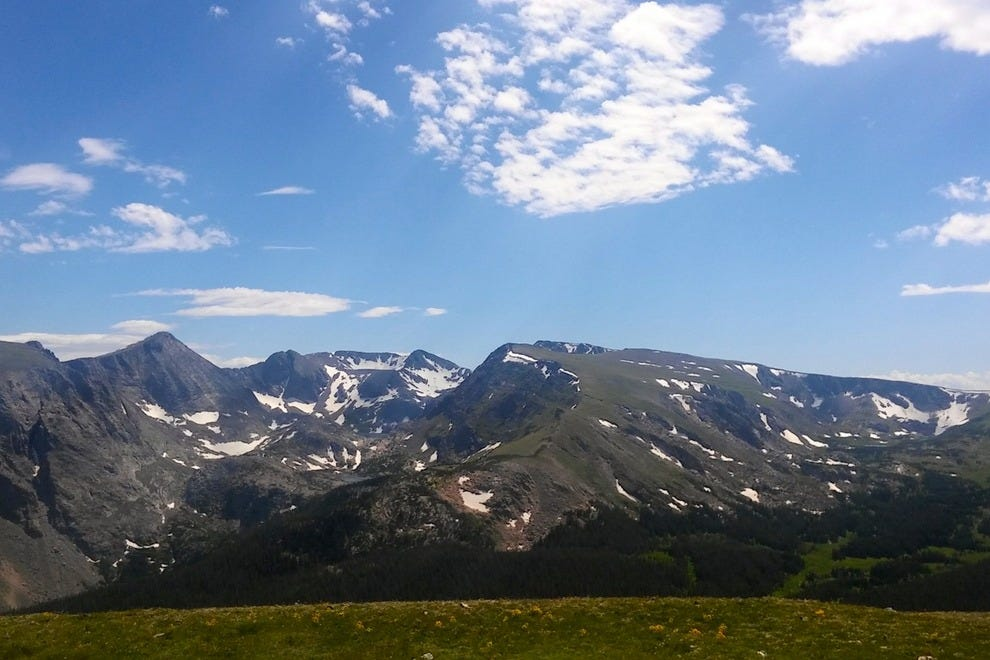 Snow fields and gorgeous tundra along Trail Ridge Road