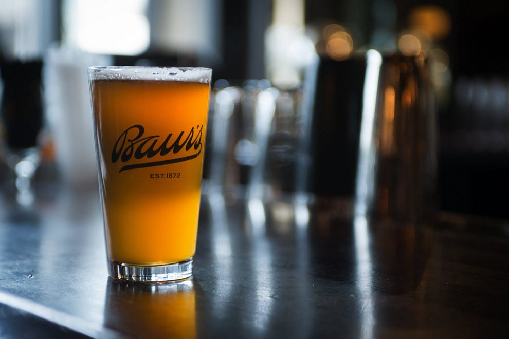 Baur's Kolsch is the restaurant's own private-label beer, made by local craft brewery Brews on Broadway