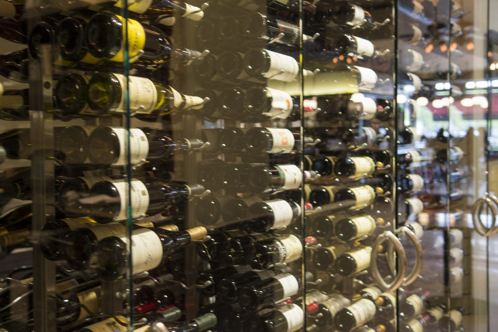 The restaurant's wine list includes more than 200 labels to choose from and a full wine-by-the-glass program, plus wines by the half glass for those times when just a little is just right