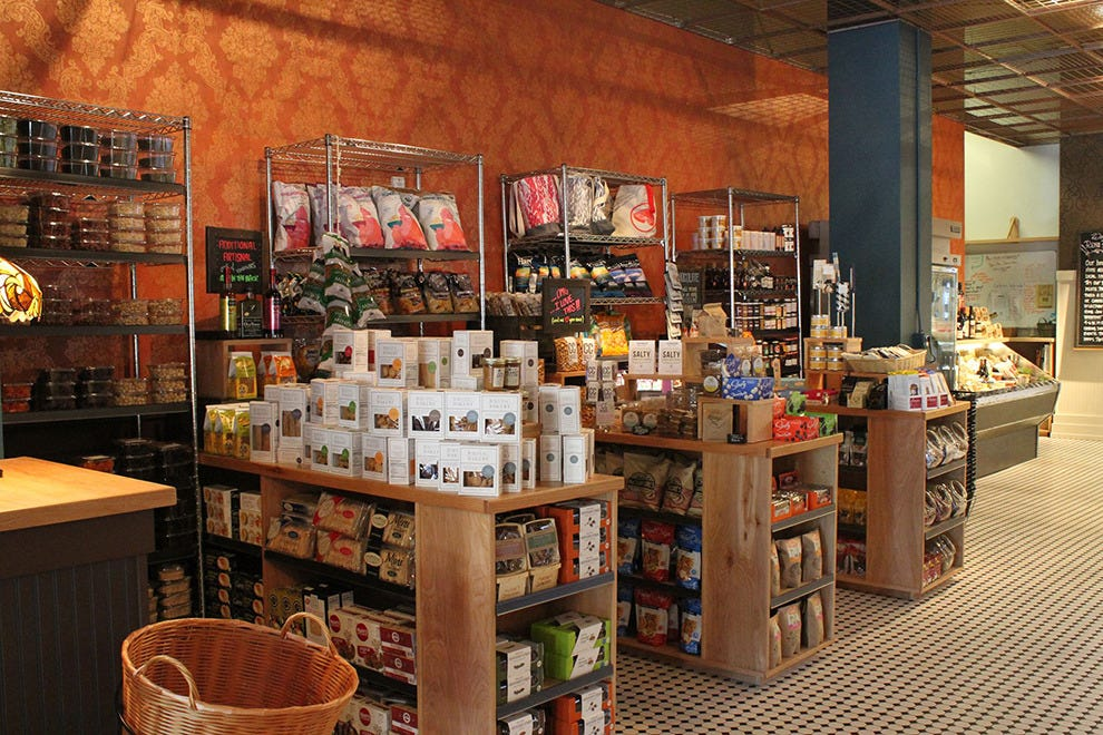 At the marketplace, you can buy local produce, baked goods and fresh sauces