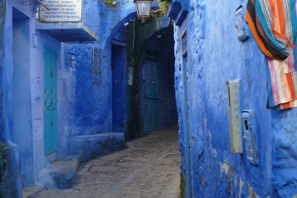 Chefchaouen's blue alleyways draw travelers to this tourist-friendly town in northern Morocco.