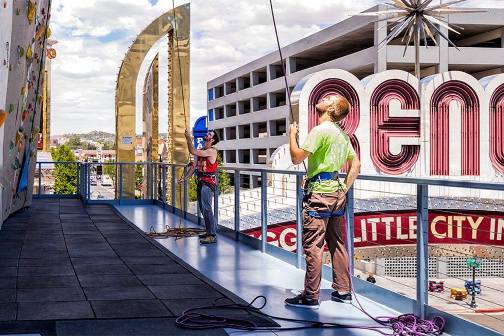 Climb The Tallest Rock Climbing Wall In World At Whitney Peak Hotel Reno Photo Courtesy Of