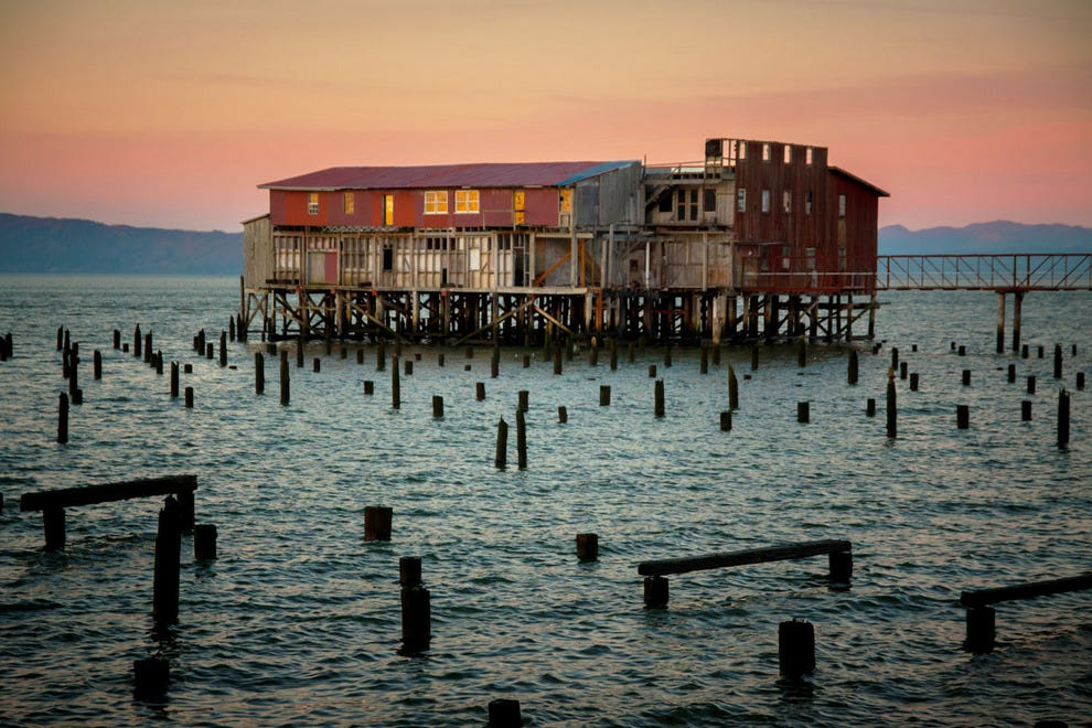 A Defunct Cannery In Astoria Oregon