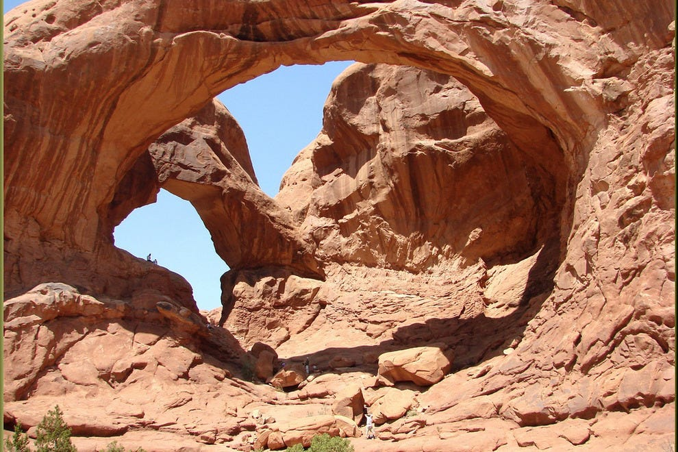 A double arch in Arches National Park