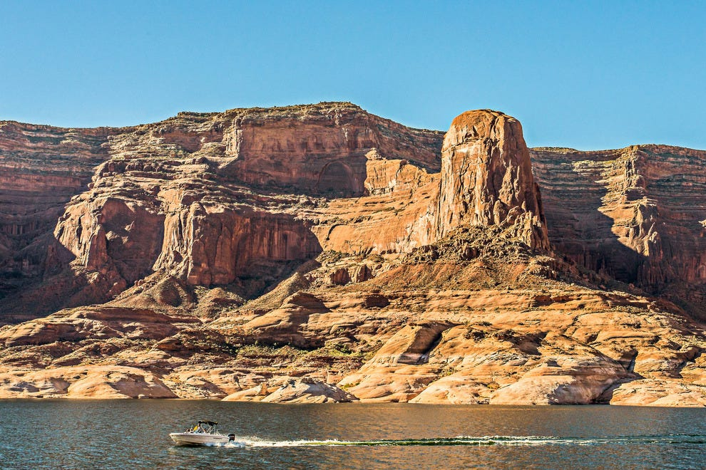 A boat on Lake Powell
