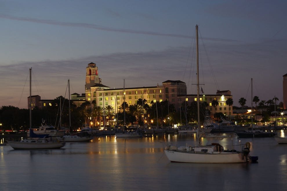 The Vinoy overlooks Tampa Bay in downtown St. Petersburg
