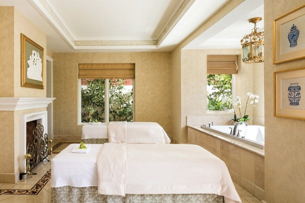 Couples treatment room at the spa at Four Seasons Westlake Village