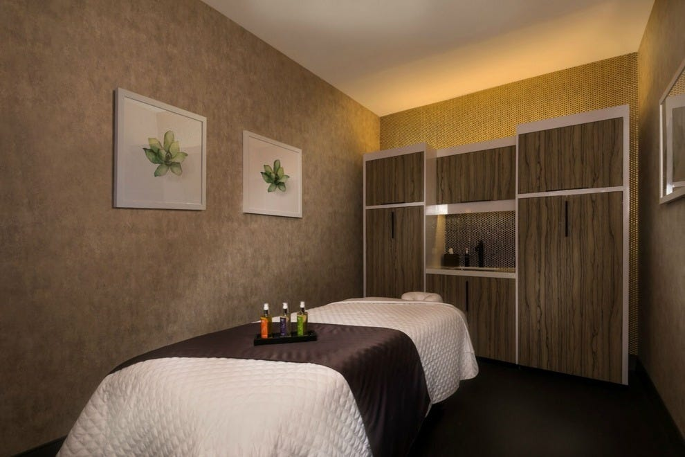 A massage room at Spa at The LINQ