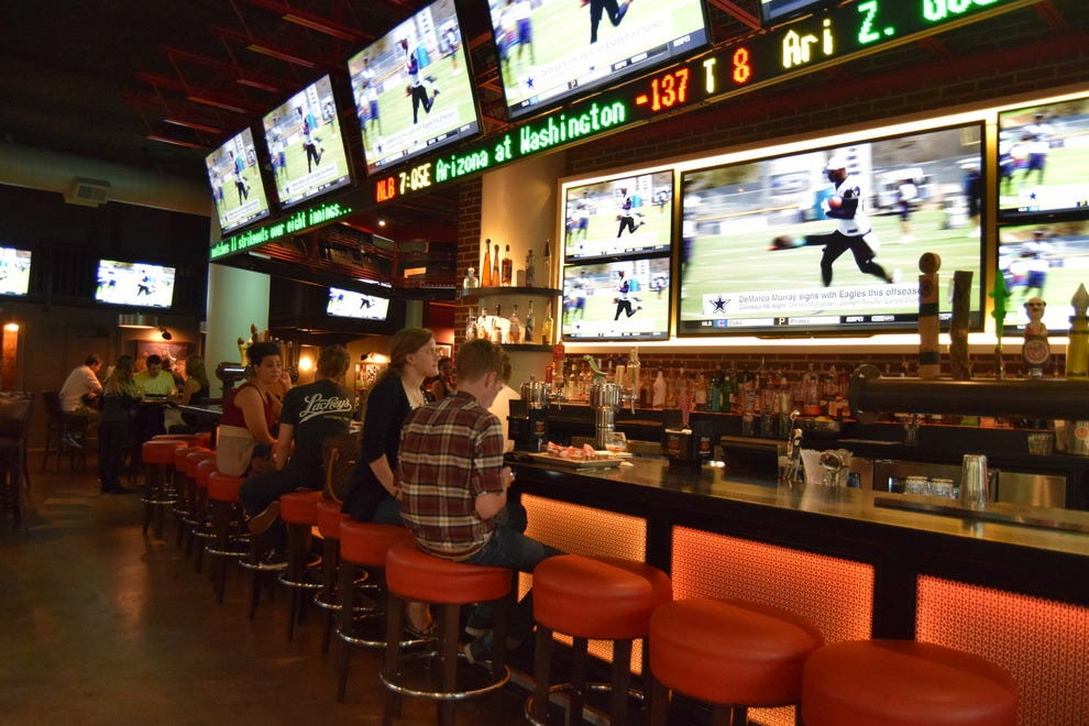 Catch a game at Lachey's Bar in Cincinnati