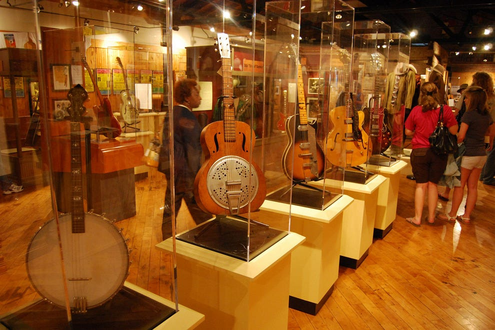 The Delta Blues Museum houses several musical instruments