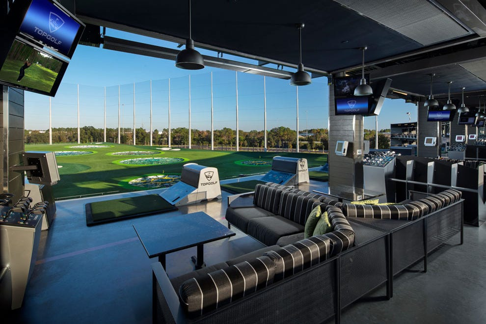 Topgolf Tampa features 109 comfortable golf bays on three levels