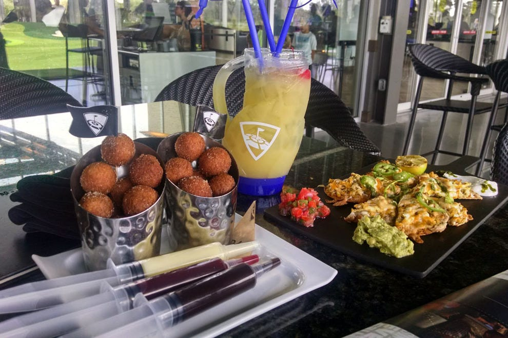 The Topgolf menu features plenty of delicious and sharable items
