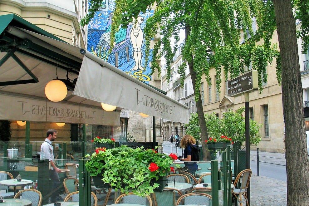 la terrasse des archives paris restaurants review. Black Bedroom Furniture Sets. Home Design Ideas