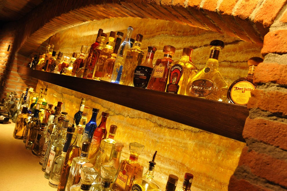 "Blanco and reposado and añejo, oh my! La Cava's ""library"" is extensive."
