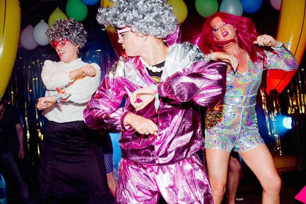 Jess Indeedy (right) injects some much-needed rave quality to the classic bingo night