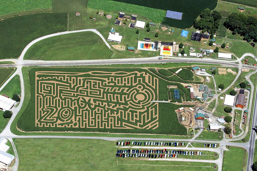 20 Years of Rails and Trails maze