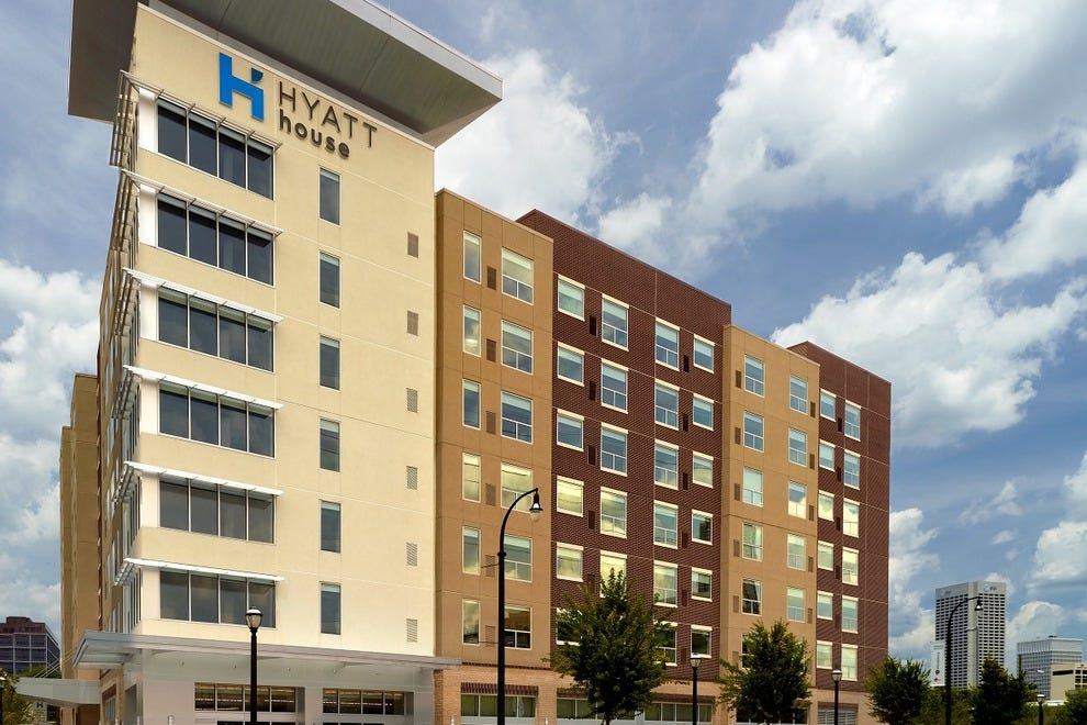 Outside view of the new Hyatt House Atlanta/Downtown