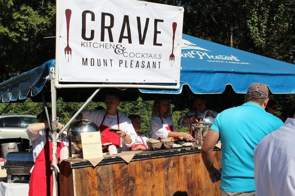 Crave Kitchen & Cocktails defends their 5-time title of Best Mac and Cheese in Charleston at this year's event