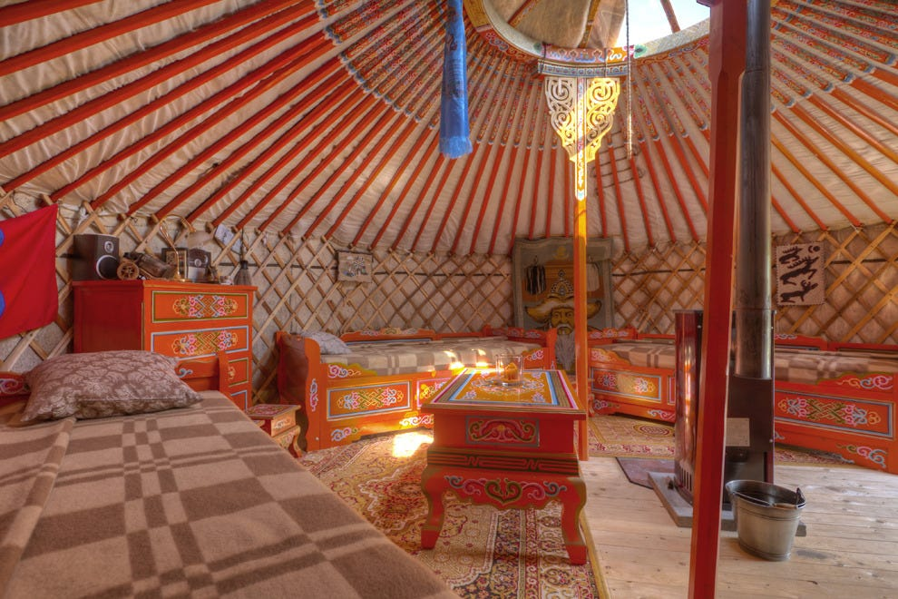Live off the land in a Mongolian yurt in Germany