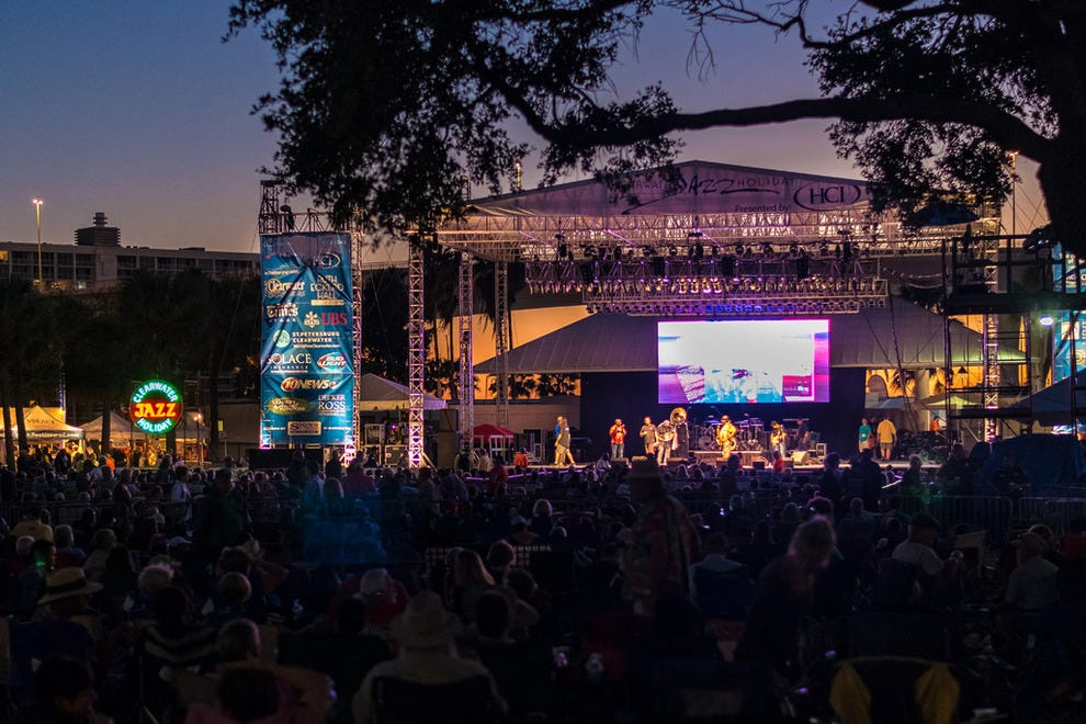 The Clearwater Jazz Holiday takes place in Coachman Park every October