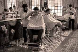 Figaro's Barbershop, Lisbon's Authentic American-Themed Hair Salon