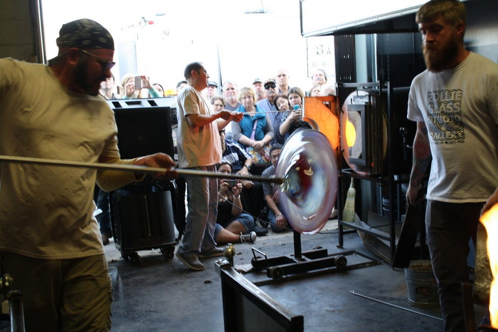 Interactive glass blowing demo
