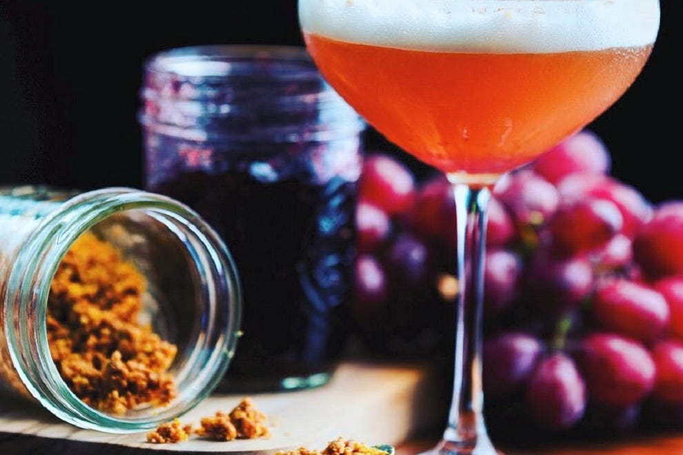 Care for a drink? Check out Succotash's libations menu, including the original PB&J cocktail