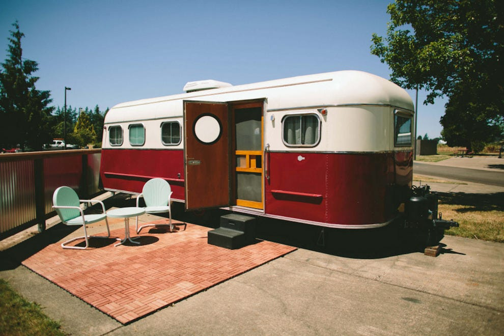 The Vintages Trailer Resort in the Willamette Valley