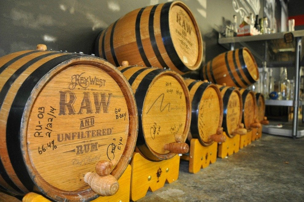 Key West Legal uses oak barrels cured in seawater