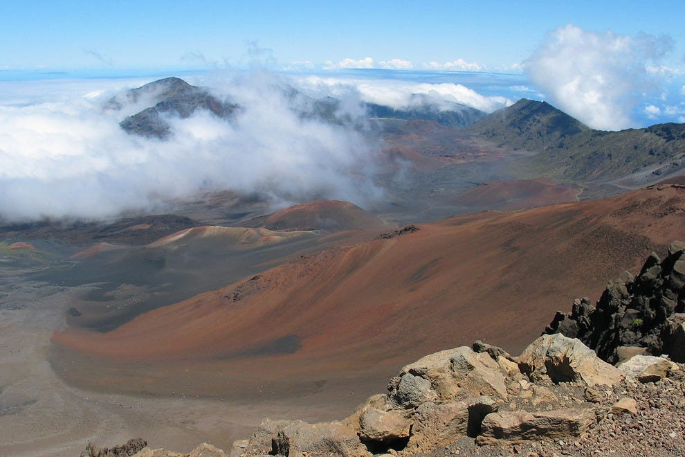 The crater atop Hawaii's Mount Haleakala