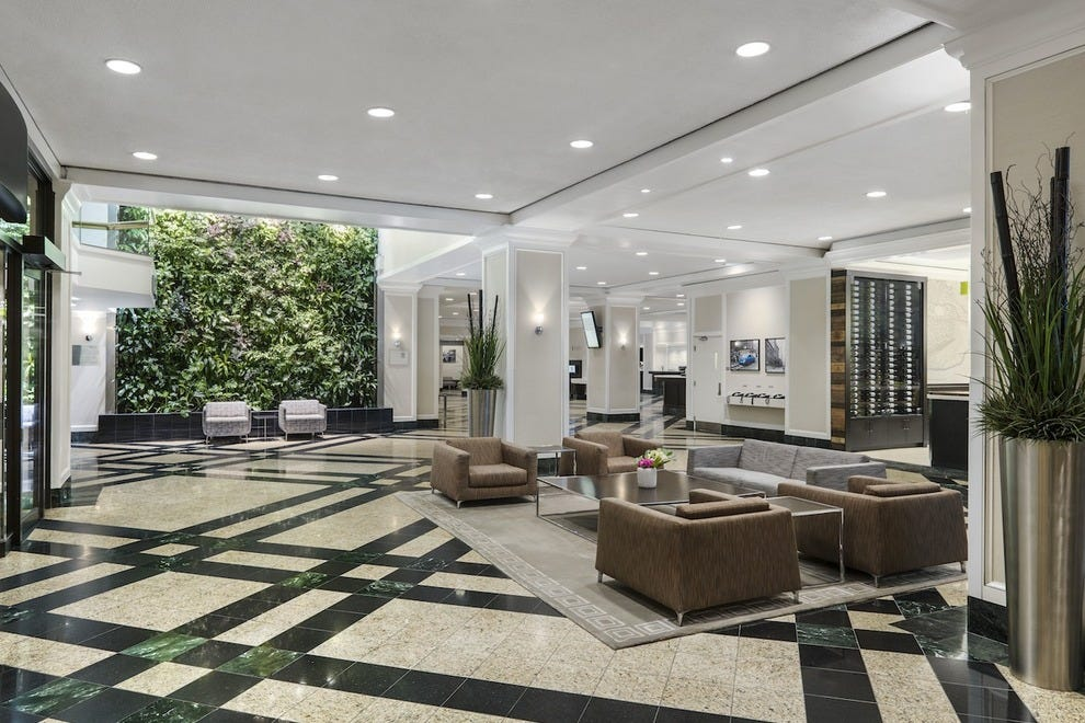 The exquisite Bay Street lobby