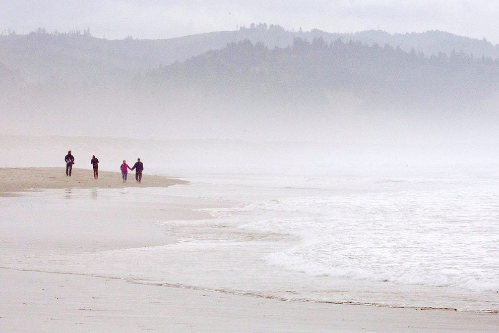 A misty morning at Oregon's Cape Kiwanda