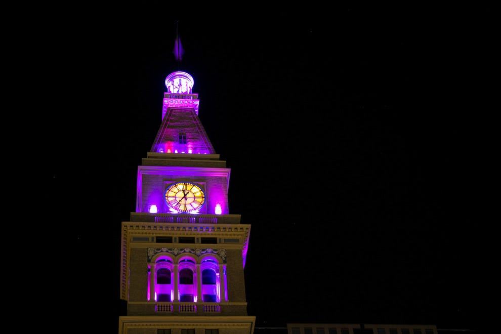 The clocktower in Denver