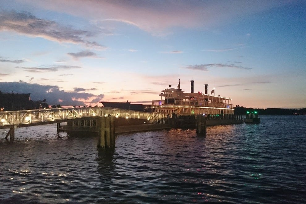 All aboard! Guests embark on FerryTale Wishes: A Fireworks Dessert Cruise for sweet treats and sweeter views as the sun sets