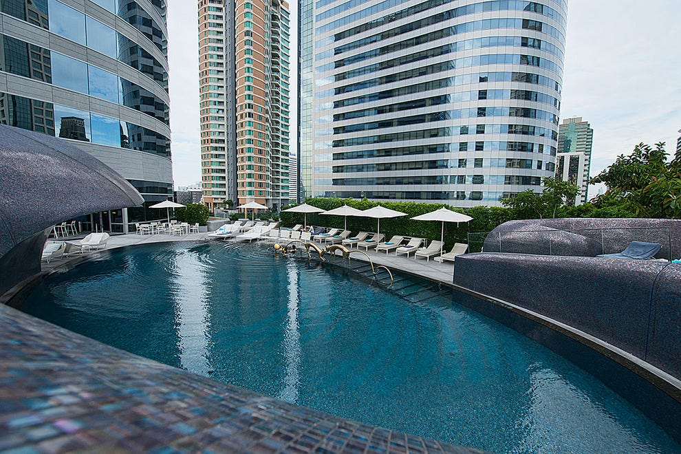 Rooftop swimming is an option at W Bangkok