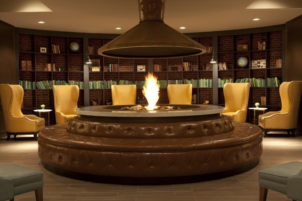 Let the fire crackle and burn in these fantastic fireplaces at some of the most gorgeous hotels around the country. You won