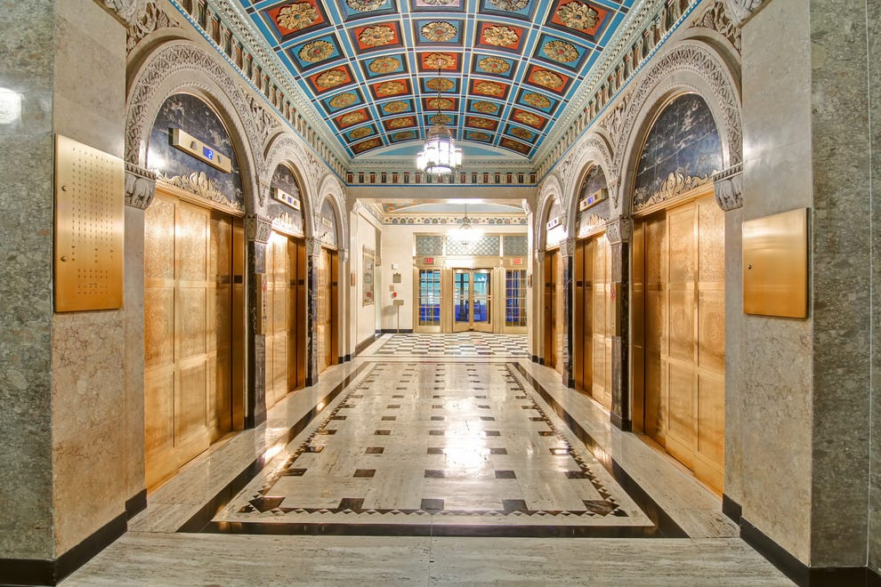 The building lobby of the former Cincinnati Enquirer is filled with stunning architectural details