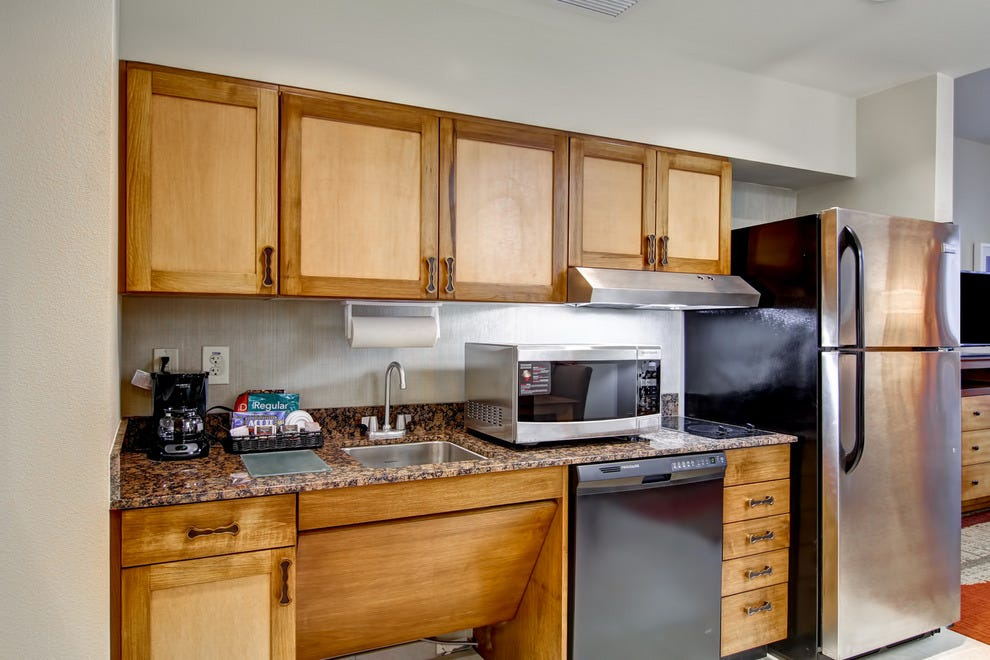 Fully equipped kitchen at Homewood Suites